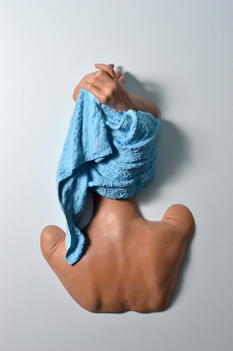 Hands on Towel - Blue, 1996-2018