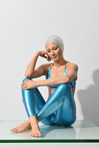 What If (Table-top) with Blue Suit & Clear Swarovski Crystal Cap, 2021