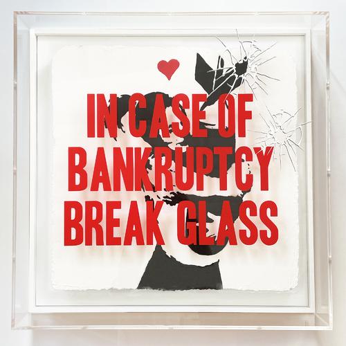 "In Case of Bankruptcy - BROKEN GLASS - ""Bomb Hugger"", 2021"
