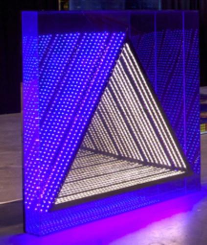 LED coffrage carré ST triangle : bleu / blanc chaud