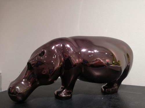 Oscar : Hippopotame (bronze - glossy)