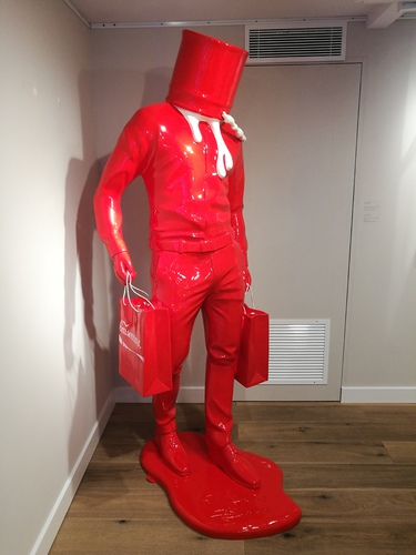 Shopping Man in Art - Rouge et Blanc