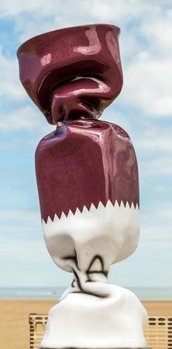 Wrapping Bonbon - Drapeau Qatar N°1439, 2011