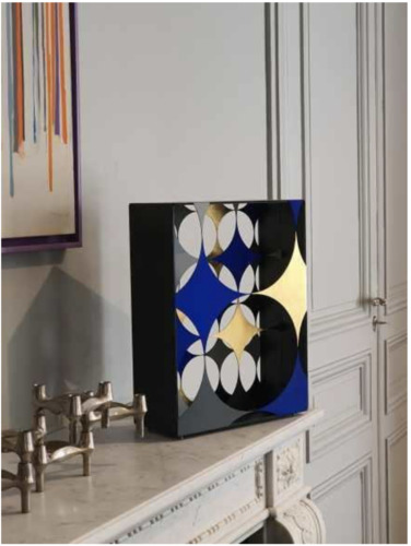 """Blue and Gold Sparkling Box """"Helene"""", 2020"""