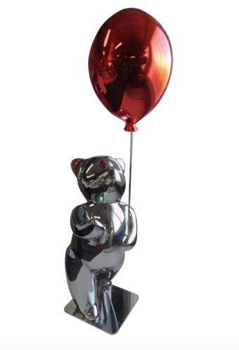 Sunny red : Teddy avec ballon (Résine - Glossy)