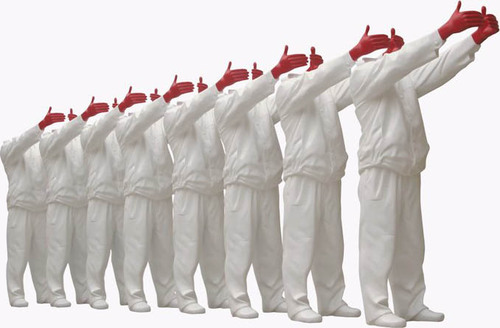 Red Hand (White Set of 8), 2008