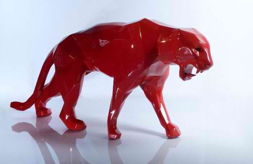 Wild panther - red w/ bright eyes