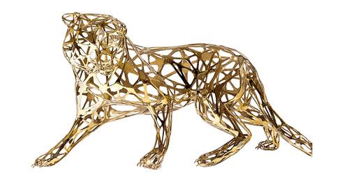 Tigre dentelle doré