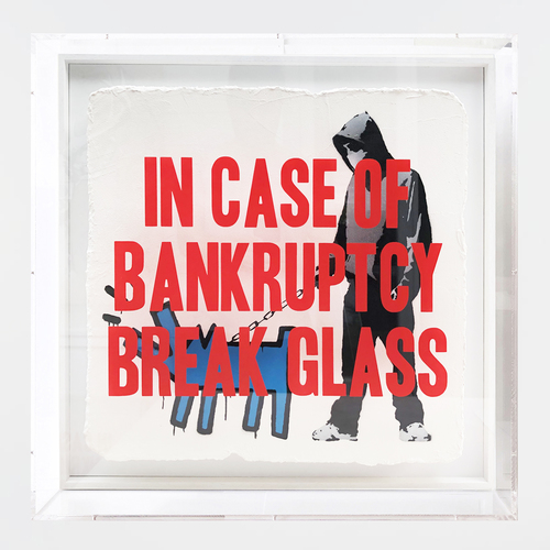 In case of Bankruptcy - Choose your Weapon Blue Dog (60x60cm)