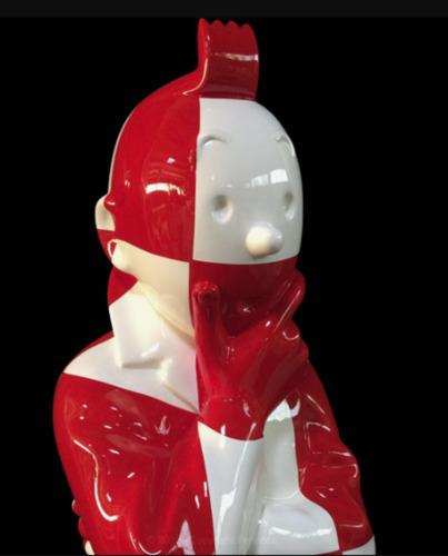 """""""L'ordre et le chaos"""" Fusée damier rouge et blanc"""