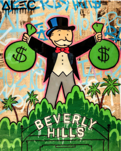 NP Monopoly Holding 2$ Bags Beverly Hills