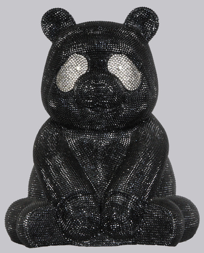 Small panda Strass Black