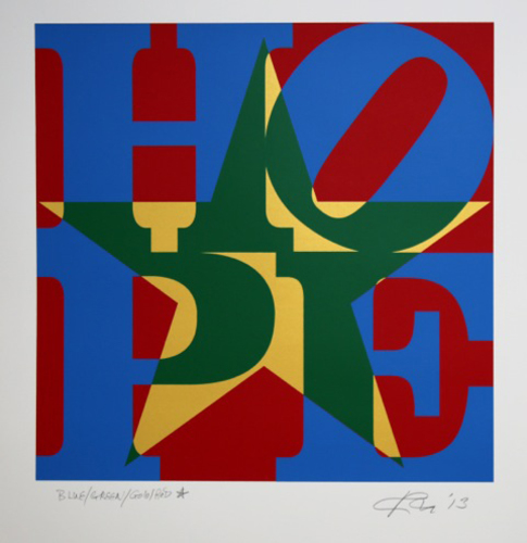 Star of HOPE (Blue/Green/Gold/Red), 2013