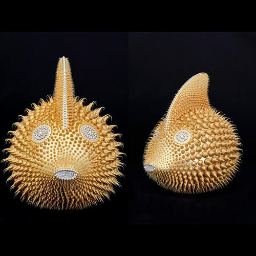 Poisson Lune Gold (50 cm)