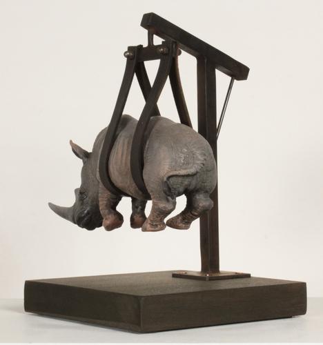 Il peso del tempo sospeso rhino mini