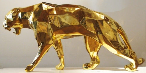 Wild panther - gold (150 cm)