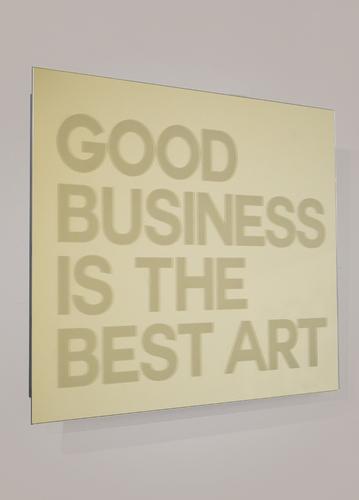 SERIE MIROIRS GRAVES - Good business is a best art - GOLD, 2021