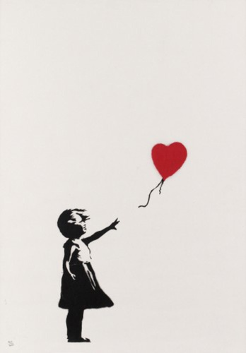 Girl with balloon, 2004 (signed)